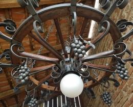 Кованые люстры, фонари, светильники, подсвечники №122