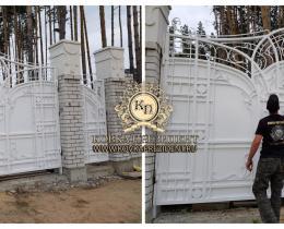 Кованые ворота в Воронеже №178