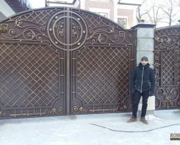 Кованые ворота в Воронеже №151
