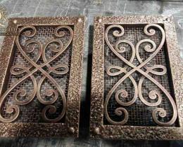 Кованые каминные наборы, дровницы, решетки №43