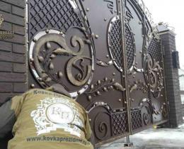 Кованые ворота в Воронеже №12