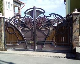Кованые ворота в Воронеже №8