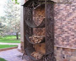Кованые каминные наборы, дровницы, решетки №39