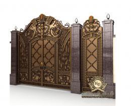 Кованые ворота в Воронеже №168
