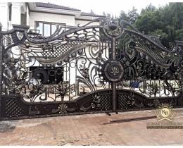 Кованые ворота в Воронеже №162