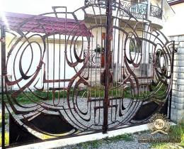 Кованые ворота в Воронеже №163