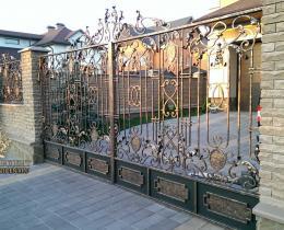 Кованые ворота в Воронеже №164