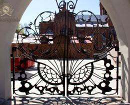 Кованые ворота в Воронеже №167