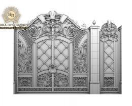 Кованые ворота в Воронеже №154