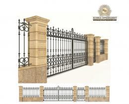 Кованые ворота в Воронеже №156
