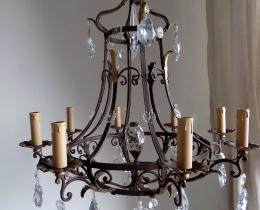 Кованые люстры, фонари, светильники, подсвечники №123