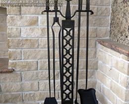 Кованые каминные наборы, дровницы, решетки №41