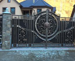 Кованые ворота в Воронеже №17