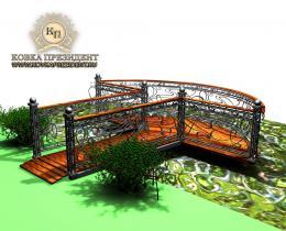 Кованый мостики в Воронеже №11