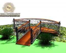 Кованый мостики в Воронеже №12