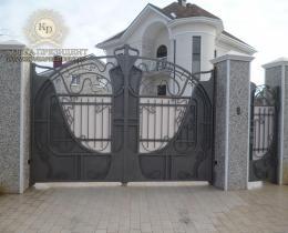 Кованые ворота в Воронеже №5