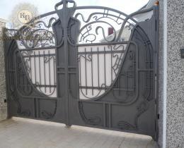 Кованые ворота в Воронеже №6
