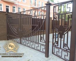 Кованые ворота в Воронеже №37