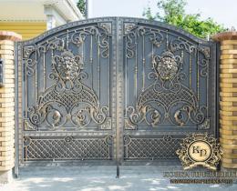 Кованые ворота в Воронеже №119