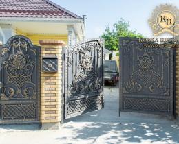 Кованые ворота в Воронеже №117