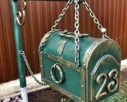 Кованые таблички, вывески, почтовые ящики №145