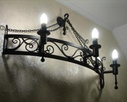Кованые люстры, фонари, светильники, подсвечники №124