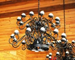 Кованые люстры, фонари, светильники, подсвечники №125