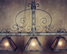 Кованые люстры, фонари, светильники, подсвечники №126