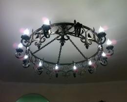 Кованые люстры, фонари, светильники, подсвечники №11