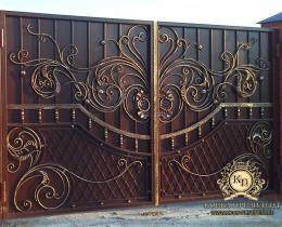 Кованые ворота в Воронеже №132