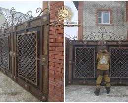 Кованые ворота в Воронеже №174