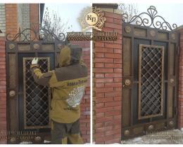 Кованые ворота в Воронеже №175