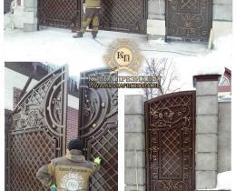 Кованые ворота в Воронеже №149