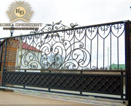 Кованые ворота в Воронеже №133