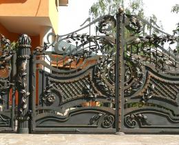 Кованые ворота в Воронеже №211