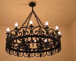 Кованые люстры, фонари, светильники, подсвечники №14