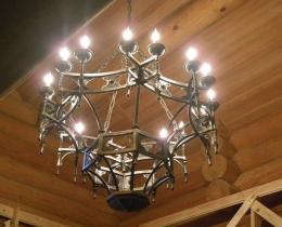 Кованые люстры, фонари, светильники, подсвечники №127